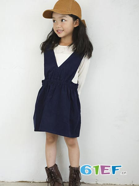 SLAP SLIP童装品牌2018秋冬背带裙