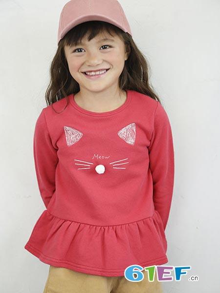 SLAP SLIP童装品牌2018秋冬长袖花边上衣