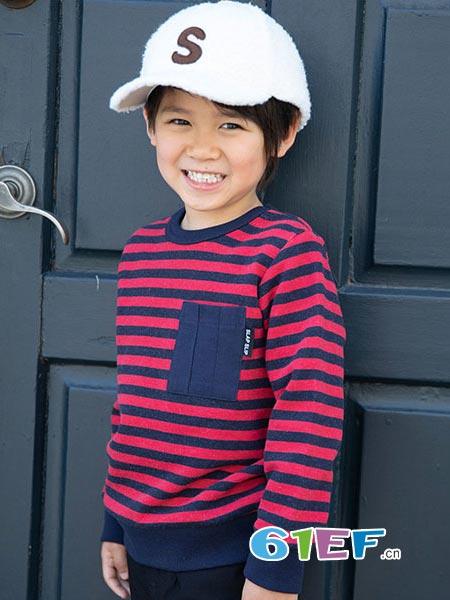 SLAP SLIP童装品牌2018秋冬条纹长袖