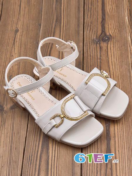 多多马童鞋品牌2018春夏新款韩版公主儿童凉鞋魔术贴软底女童鞋子