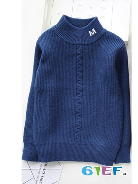 童心园童装品牌半高领毛衣
