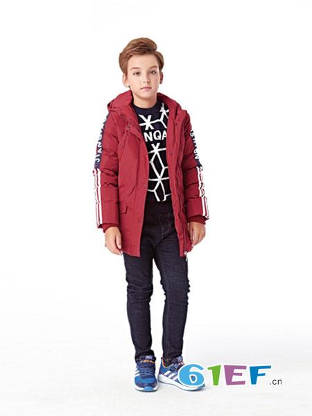 辛芭狗童装品牌2018秋冬儿童中长款棉衣中大童加厚男孩棉袄外套