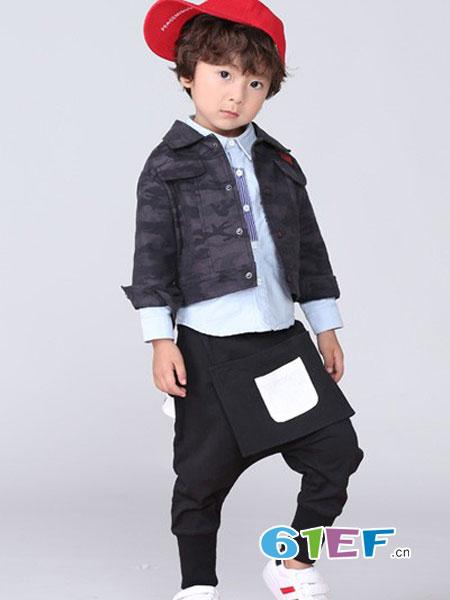 皇室baby童装品牌2018秋冬棉质撞色连帽夹克 儿童休闲外套