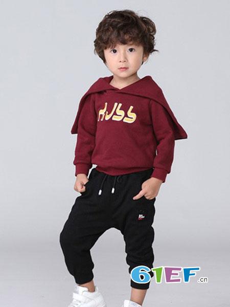 皇室baby童装品牌2018秋冬中大童韩版宽松长袖上衣洋气连帽套头衫
