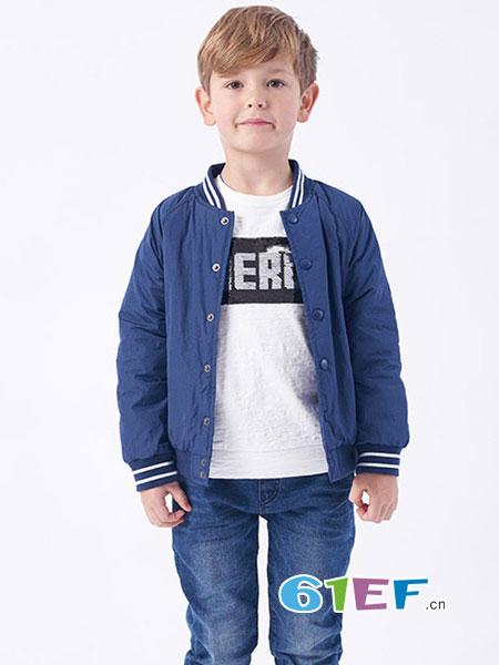 伊佳林IKALI童装品牌2018春夏男童休闲运动系列薄棉棒球服