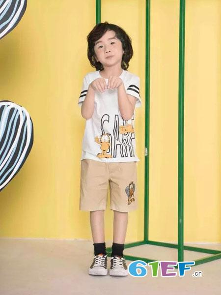 米6童品龙8国际娱乐官网品牌图案短袖