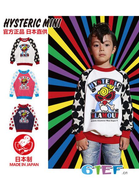 Hysteric mini龙8国际娱乐官网品牌2018秋冬拼接图案卫衣