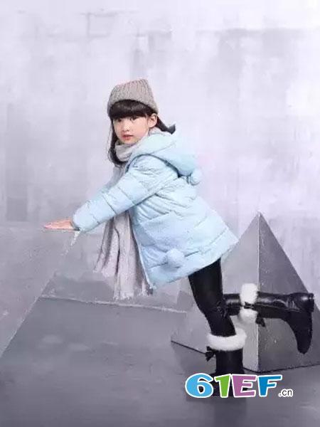可人公主童装品牌2018秋冬耳朵保暖加厚斗篷外套