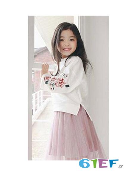 兔巴哥龙8国际娱乐官网品牌刺绣侧开叉长袖