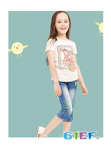 兔巴哥童装品牌图案短袖