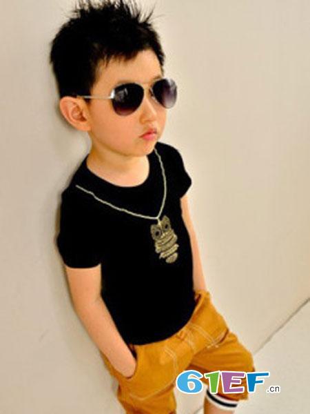 咔唻咪品牌童装童装品牌图案短袖