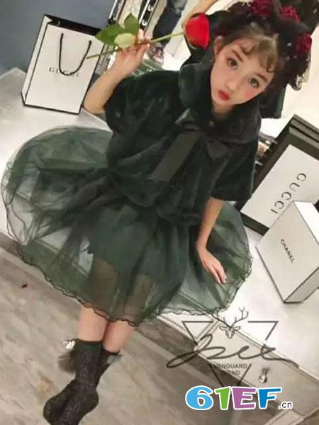 玖喆潮童龙8国际娱乐官网品牌绒面披风蓬蓬裙