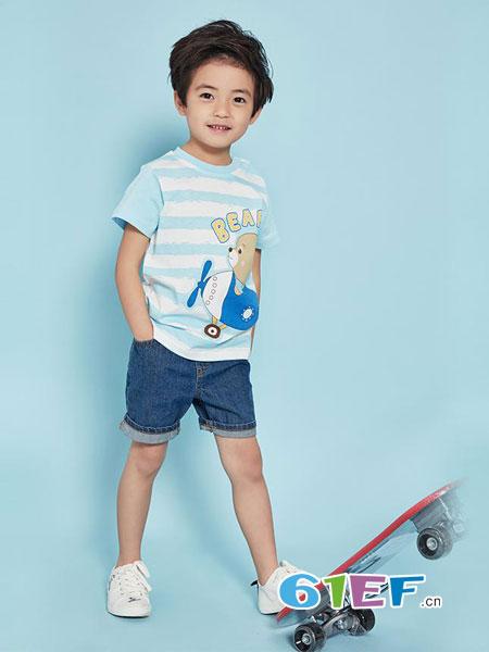 安塞尔斯龙8国际娱乐官网品牌2018春夏儿童背心短裤