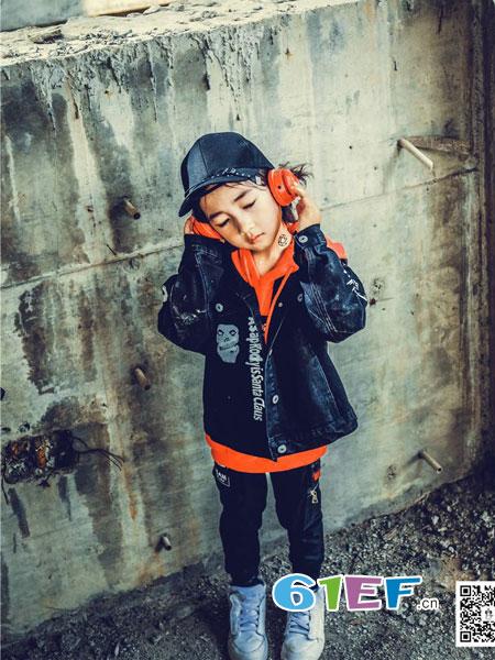优优巴斯龙8国际娱乐官网品牌2018秋冬新款潮酷牛仔外套百搭卫衣潮流裤子