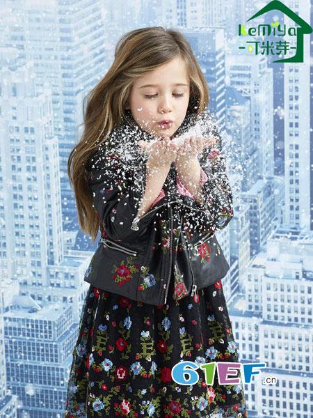 可米芽龙8国际娱乐官网品牌2018秋冬新款儿童双层雪纺蓬蓬公主连衣裙