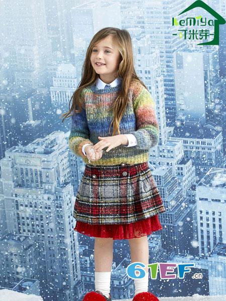 可米芽龙8国际娱乐官网品牌2018秋冬毛衣短外套