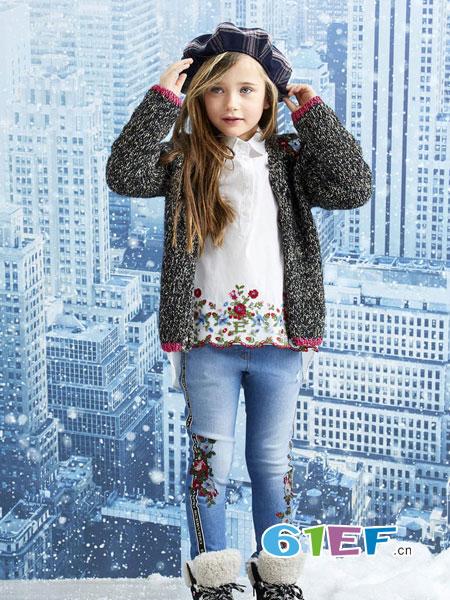 可米芽龙8国际娱乐官网品牌2018秋冬儿童韩版长袖公主外套