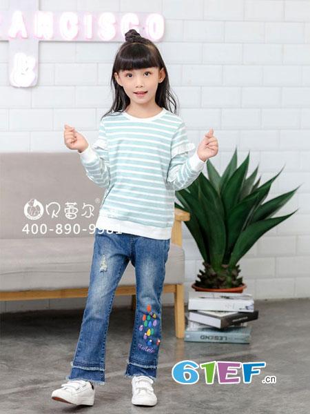 贝蕾尔童装品牌2018秋冬新款加厚韩版铅笔裤
