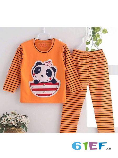 童美衣龙8国际娱乐官网品牌条纹图案拼接长袖套装