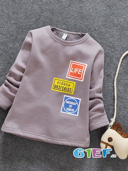 小蚂蚁童装品牌2018秋冬新款中大童打底衫