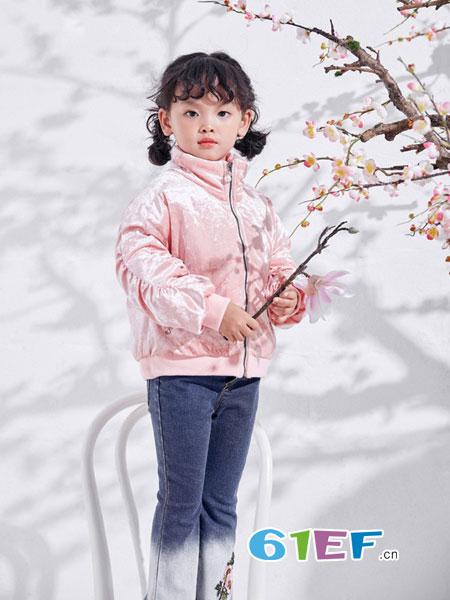 DIZAI童装品牌2018秋冬新款丝绒夹克小个子韩版潮