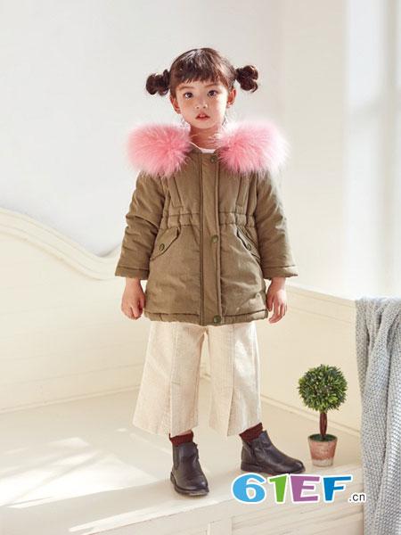 DIZAI童装品牌2018秋冬外套儿童獭兔貉子毛皮草