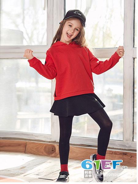 HoneyPig蜜糖猪童装品牌2018秋冬新款格子韩版儿童装套头毛衣