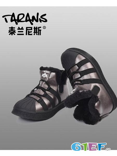 泰兰尼斯童鞋品牌2018秋冬加绒板鞋贝壳头休闲鞋