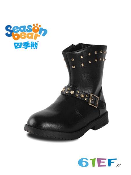 四季熊童装品牌2018秋冬韩版保暖冬靴冬季短靴
