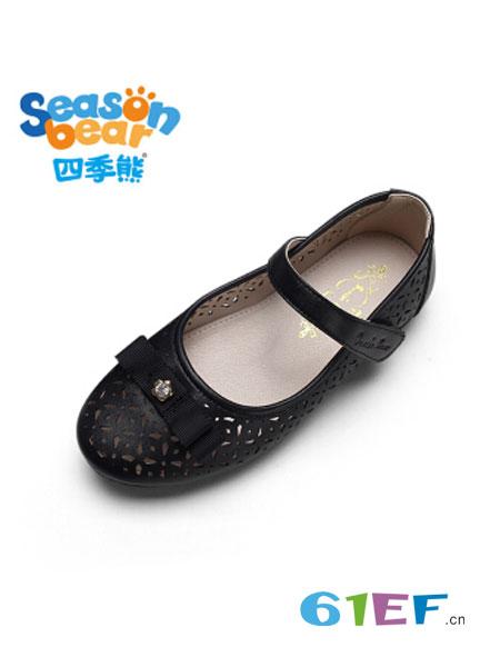 四季熊童装品牌2018秋冬演出鞋浅口公主鞋软底女孩瓢鞋子