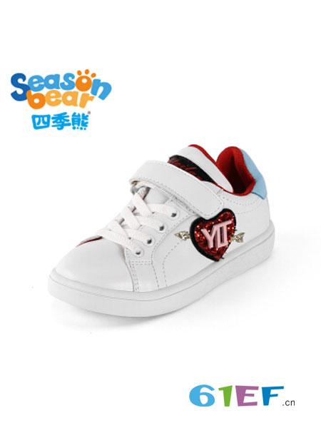 四季熊童装品牌2018秋冬男童透气休闲鞋