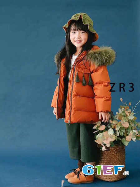 dishion的纯童装品牌2018秋冬中长款外套儿童加厚棉服宝宝洋气冬装潮