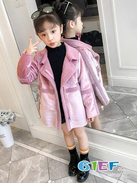 欧嘉尼童装品牌2018秋冬韩版女孩洋气加绒加厚大衣潮童装大童中长款