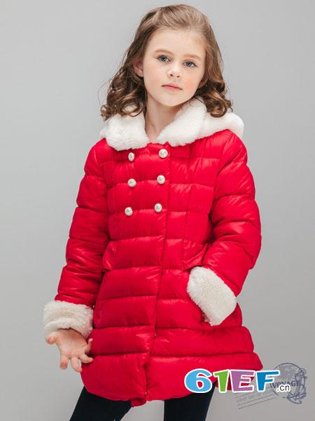 常春藤童装品牌2018秋冬中长款两面穿仿皮草外套