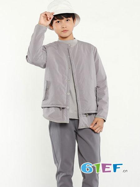 JAKET童装品牌2018秋冬长袖宽松透气棉麻纯色上衣