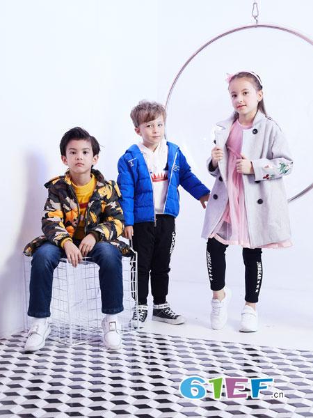 杰米熊童装品牌2018秋冬儿童女童保暖面包服羽绒服
