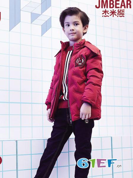 杰米熊童装品牌2018秋冬新款加厚中长款保暖棉袄韩版外套