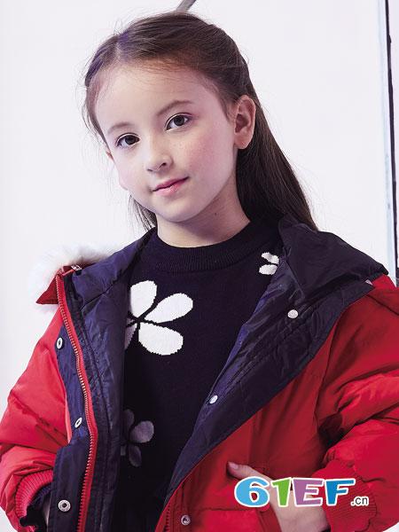 杰米熊童装品牌2018秋冬新款韩版中大童中长款棉服洋气儿童棉袄外套