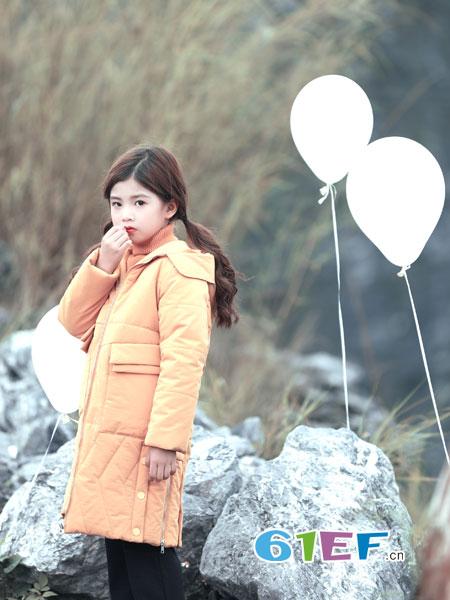 叮当猫龙8国际娱乐官网品牌2018秋冬中长款白鸭绒羽绒服棉衣棉服