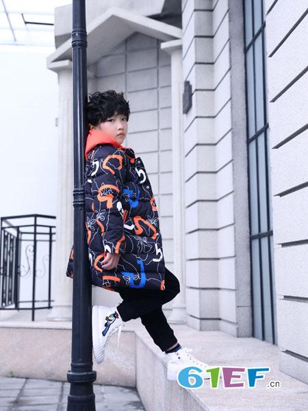 叮当猫龙8国际娱乐官网品牌2018秋冬连帽羽绒棉袄加厚羽绒棉服外套