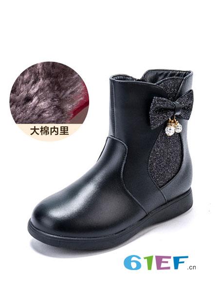 富罗迷童鞋品牌2018秋冬新款保暖公主靴儿童雪地棉靴
