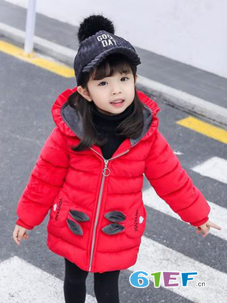 园园乐童装品牌2018秋冬洋气儿童时尚加厚棉袄