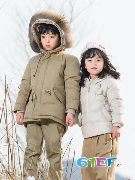 琦瑞德泽童装品牌2018秋冬女童加厚羽绒服保暖毛领连帽外套