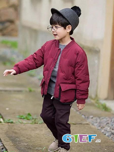 琦瑞德泽童装品牌2018秋冬新款夹克棉袄中大童