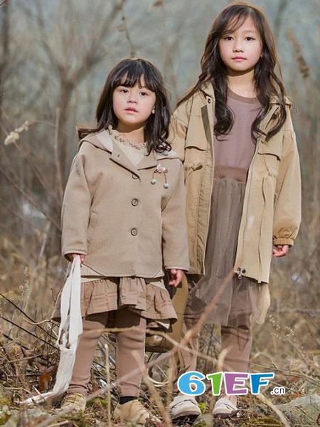 琦瑞德泽童装品牌2018秋冬韩版小女孩呢子外套连衣裙洋气两件套