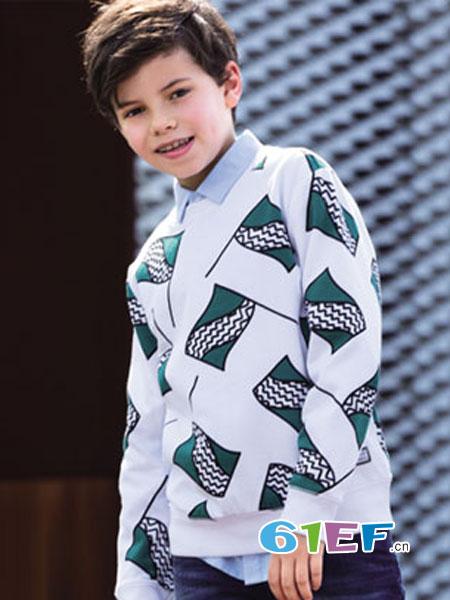 Balabala(巴拉巴拉)童装品牌2018秋冬男童纯棉圆领印花长袖卫衣