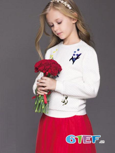 Balabala(巴拉巴拉)童装品牌2018秋冬新款儿童公主套头针织衫洋气中大童