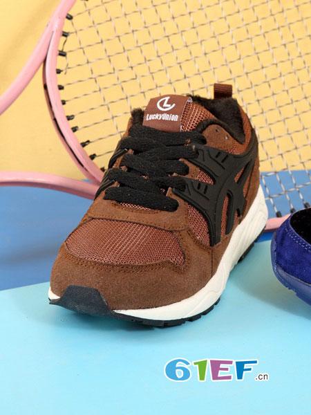 乐客友联Lucky Union童鞋童鞋品牌2018秋冬学步鞋网布机能鞋儿童运动童鞋