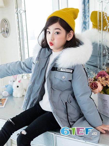 圣逸亲童装品牌2018秋冬棉服加厚外套中大童洋气棉袄