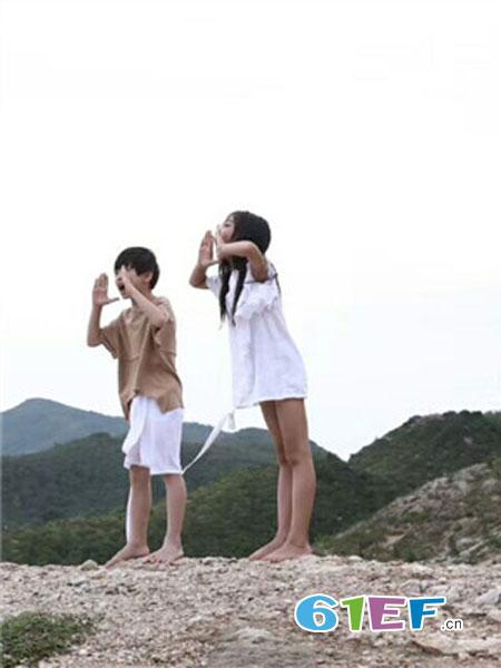 有末童装品牌2019春夏宽松A版型童衫公主白色娃娃衫女童装蓬松裙
